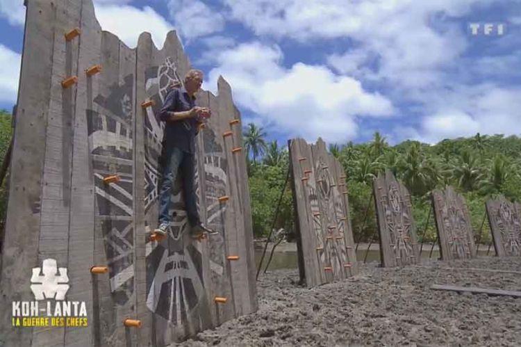 """""""Koh Lanta"""" : Denis Brogniart teste les murs percés, un jeu de confort inédit (vidéo)"""