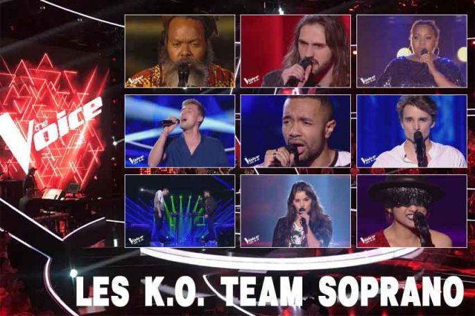 """Replay """"The Voice"""" samedi 20 avril : voici les 18 KO de l'équipe Soprano (vidéo)"""