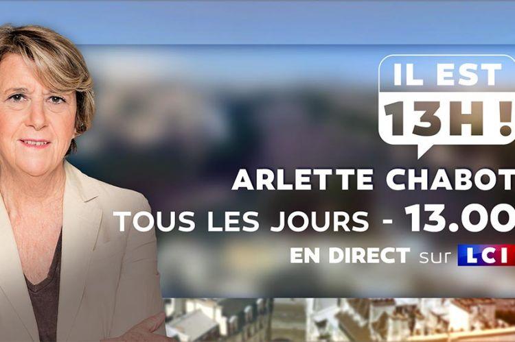 """""""Il est 13h!"""" : nouveau rendez-vous sur LCI avec Arlette Chabot du lundi au vendredi"""