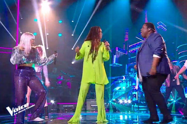 """Replay """"The Voice"""" : Cyprien, Niki Black & Amel Bent « The way you make me feel » de Michael Jackson (vidéo)"""