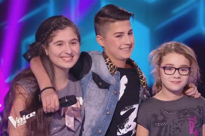 """Revoir """"The Voice Kids"""" : battle Maïssa, Wilson & Ermonia sur « Tout donner » de Maître Gims (vidéo)"""