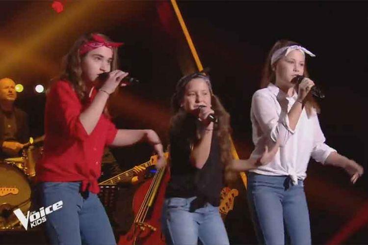 """Replay """"The Voice Kids"""" : Les Mini Div chantent « It's raining men » des Weather Girls (vidéo)"""