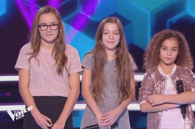 """Revoir """"The Voice Kids"""" : battle Ilona, Lina & Imra sur « Shape of You » d'Ed Sheeran (vidéo)"""