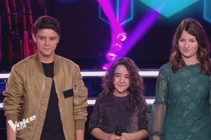 """Revoir """"The Voice Kids"""" : battle Inès, Mathéo & Alexandra « What about us » de P!nk (vidéo)"""