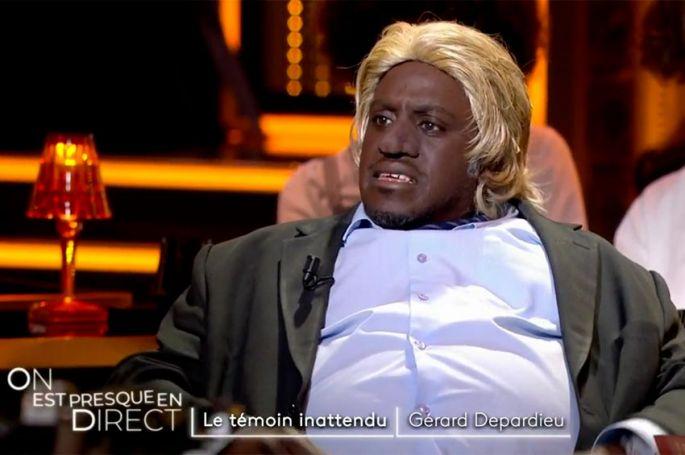 """Replay """"On est en direct"""" : Gérard Depardieu, le témoin inattendu incarné par Kody Kim (vidéo)"""
