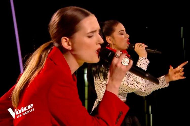 """Replay """"The Voice"""" :  Nessa & Pia chantent « Dernière danse » d'Indila (vidéo)"""