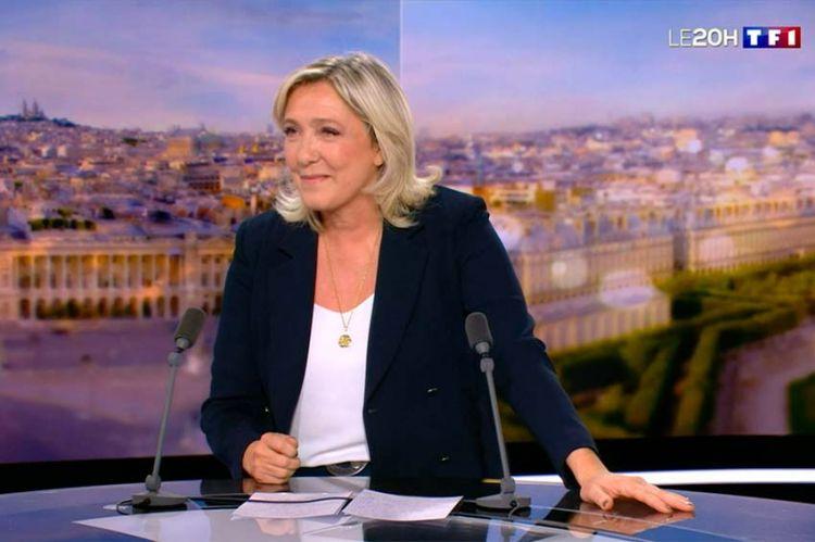 """Marine Le Pen promet d'être """"la présidente de la défense des libertés"""" dans LE 20H de TF1 (vidéo)"""