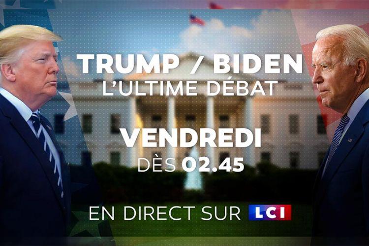 LCI diffusera cette nuit le dernier débat entre Donald Trump et Joe Biden