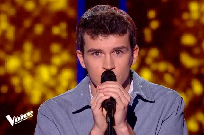 """Replay """"The Voice"""" : Zacharie Dolce chante « Ils s'aiment » de Daniel Lavoie (vidéo)"""