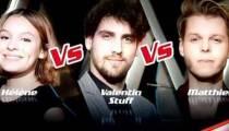 """Replay """"The Voice"""" : l'épreuve ultime d'Hélène, Valentin Stuff et Matthieu (vidéo)"""
