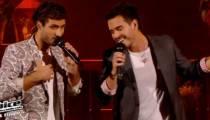 """Replay """"The Voice"""" : les Fréro Delavega chantent « Je m'voyais déjà » de Charles Aznavour (vidéo)"""