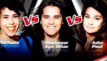 """Replay """"The Voice"""" : l'épreuve ultime de Nathalia, Marianne Aya Omac et Julia Paul (vidéo)"""