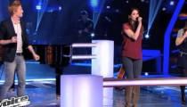 """Replay """"The Voice"""" : la battle Florence, Leila et Elliott sur « C'est dit » de Calogéro (vidéo)"""