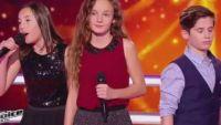 """Replay """"The Voice Kids"""" : battle Pauline / Thibault / Clarisse sur « Nos secrets » de Louane (vidéo)"""