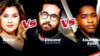 """Replay """"The Voice"""" : l'épreuve ultime de Karla, Vincent Vella et Lisandro Cuxi (vidéo)"""